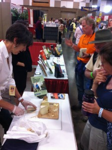 Book signing and cheese sampling