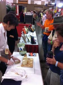 Book signing and cheese sampling