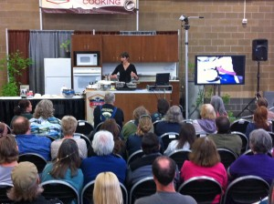 Cheesemaking Demo at Mother Earth News Fair